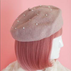 Pearl Beret Hat
